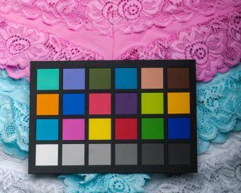 Stoffa colorata, Lingerie con cheker colore per fotografia