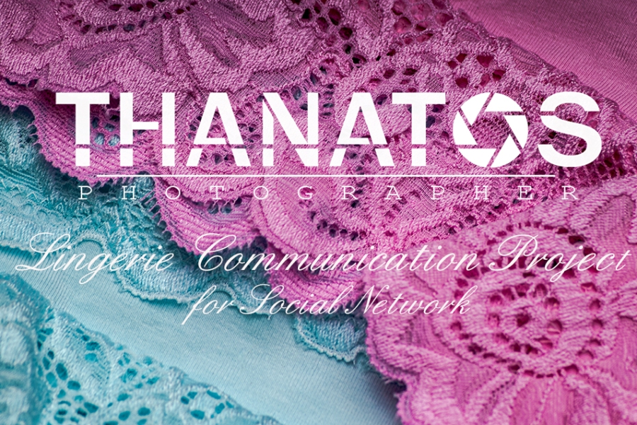 Copertina thanatos photographer lingerie communication project, fashion communication project